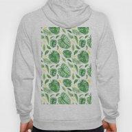 Palm Leaf Pattern Hoody