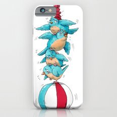 Blue Birds Balancing Boiling Beverages on a Beach Ball Slim Case iPhone 6s