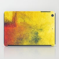 yellow, red, a bit of green iPad Case