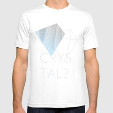 CRYSTAL? SMALL White Mens Fitted Tee