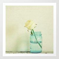 Cream Rose Art Print