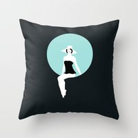 Girl #5 Throw Pillow