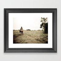 Home Away Framed Art Print