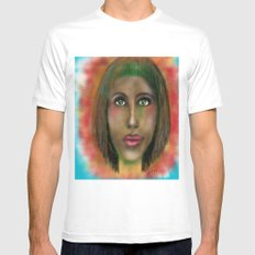Green eyes  White Mens Fitted Tee SMALL
