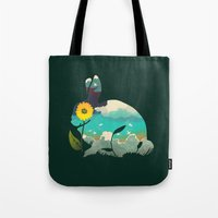 Rabbit Sky - (Forest Gre… Tote Bag