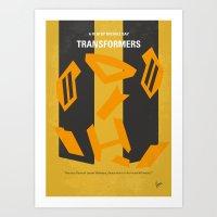 No540 My Transformers minimal movie poster Art Print