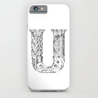iPhone & iPod Case featuring U letter by Nora Manapova