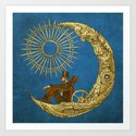 Moon Travel (Colour Option) Art Print