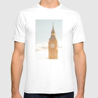Big Ben Mens Fitted Tee White SMALL