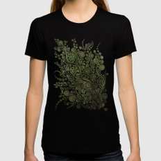 Ornaments Light On Black Womens Fitted Tee Black SMALL