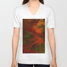 Flaming Red Unisex V-Neck