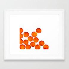 Crystal Balls Orange Framed Art Print