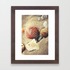 Listen to the Waves Framed Art Print