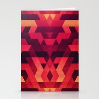 Abstract  Geometric Tria… Stationery Cards