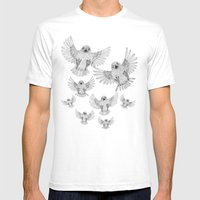 Chicks of prey (belligerant and unconquered) Mens Fitted Tee White SMALL