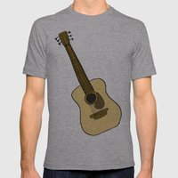 G is for Guitar Mens Fitted Tee Athletic Grey SMALL