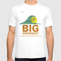 Big Wednesday Mens Fitted Tee White SMALL