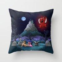 Midsummer Nightmare Throw Pillow