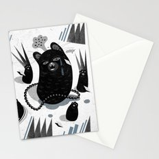 Cat in snow Stationery Cards