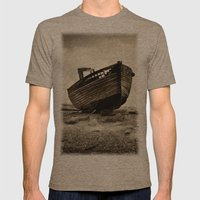 Abandoned Mens Fitted Tee Tri-Coffee SMALL