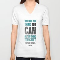 Think you can or can't Unisex V-Neck