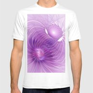 Protection, Abstract Fra… Mens Fitted Tee White SMALL