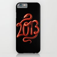 iPhone & iPod Case featuring 2013 - Year of the Snake by David McLeod