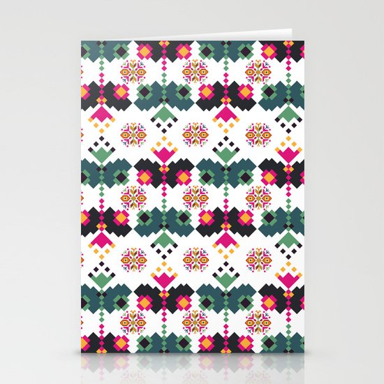 Bulgarian embroidery pattern 02 Stationery Card