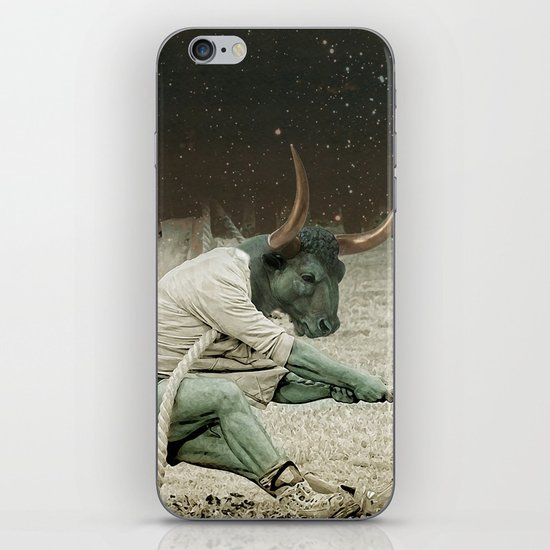 locking horns under Taurus iPhone & iPod Skin