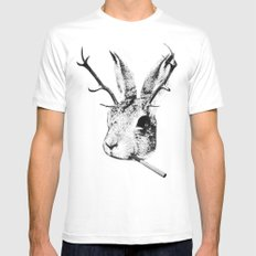 Sargeant Slaughtered SMALL White Mens Fitted Tee