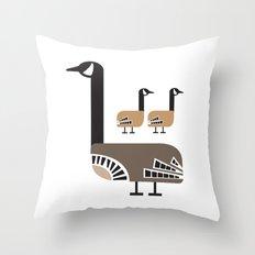 Holly Goose Throw Pillow