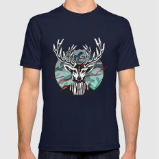 Wild Deer Mens Fitted Tee Navy SMALL