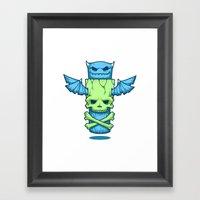 Grim Totem: A Forked Ton… Framed Art Print