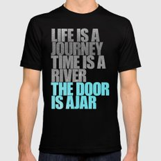 The Door is Ajar SMALL Black Mens Fitted Tee