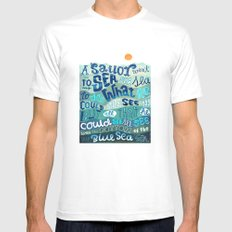 A Sailor went To Sea White Mens Fitted Tee SMALL