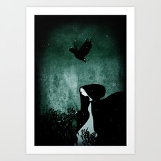 12 crows/ nettles  Art Print