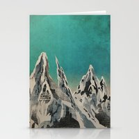 mountains Stationery Cards featuring Mountains by Amelia Senville