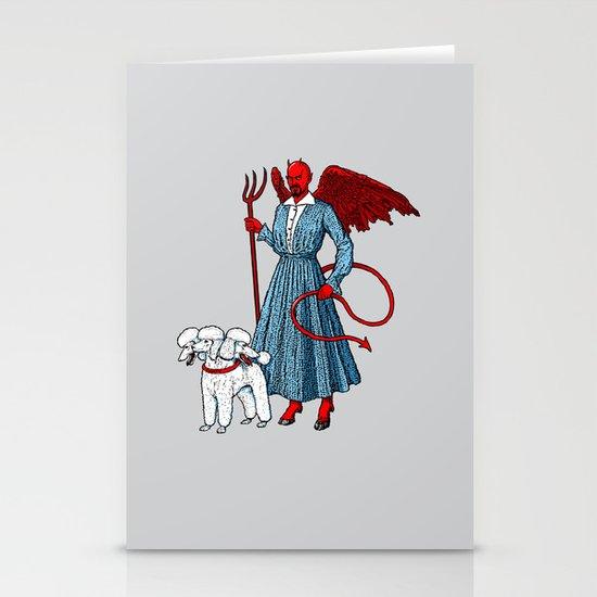 Devil With A Blue Dress On Stationery Card