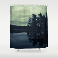 Lake by Night Shower Curtain