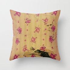 through forest boy mounted on your bird Throw Pillow