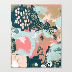Eisley - Modern fresh abstract painting in bright colors perfect for trendy girls decor college Canvas Print