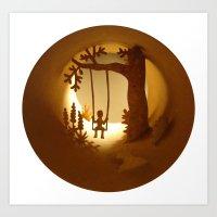 Swing (Balançoire) Art Print