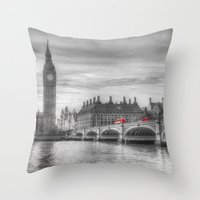Westminster Bridge And B… Throw Pillow