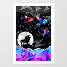 Magical Pegasus Art Print
