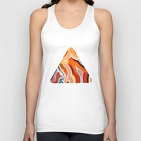 The Vivid Imagination of Nature, Layers of Agate Unisex Tank Top