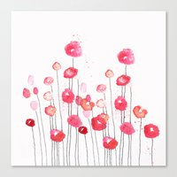 Poppies In Pink Canvas Print