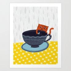 Shark Tea Art Print