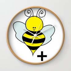 Bee Positive Wall Clock