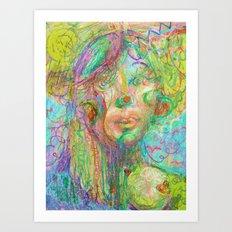 Psychedelic Girl Art Print