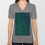 Unisex V-Neck featuring Green Marble Texture G29… by MedusArt